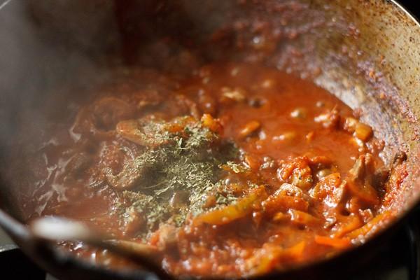 faire la recette de champignon kadai