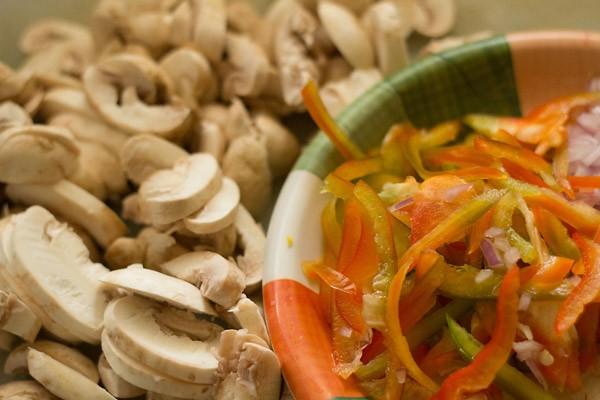 champignons pour la recette de champignon kadai