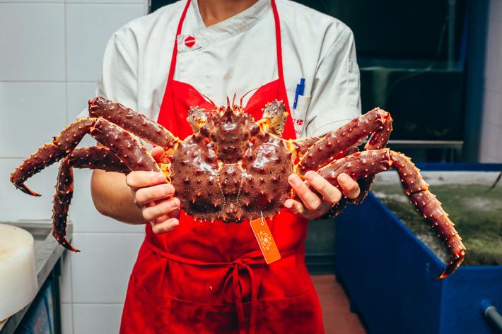Crabe royal d'Alaska aux fruits de mer de Red House