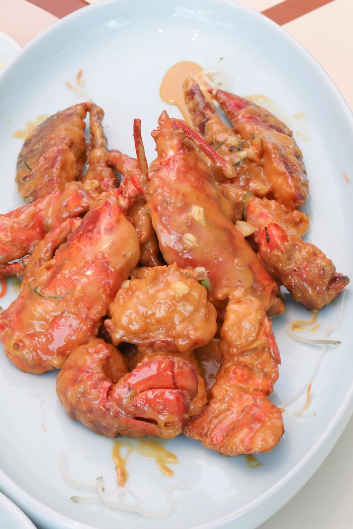 Homard crémeux aux fruits de mer Red House