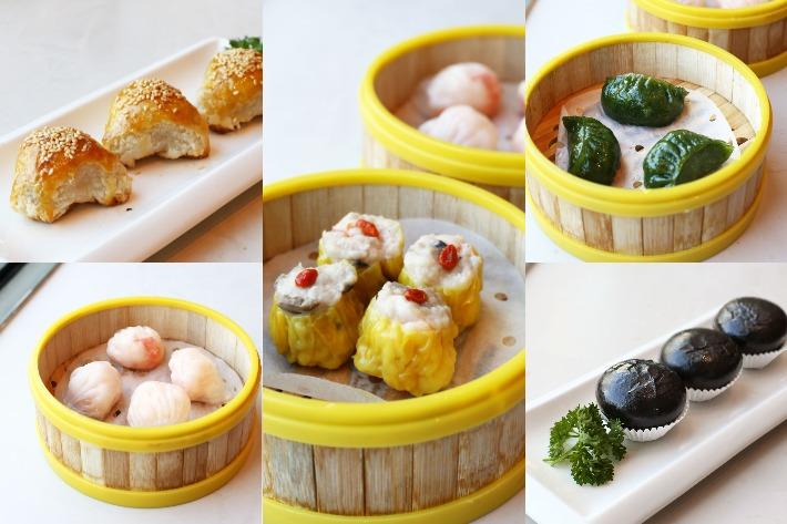 Collage Dim Sum aux fruits de mer de la maison rouge complet