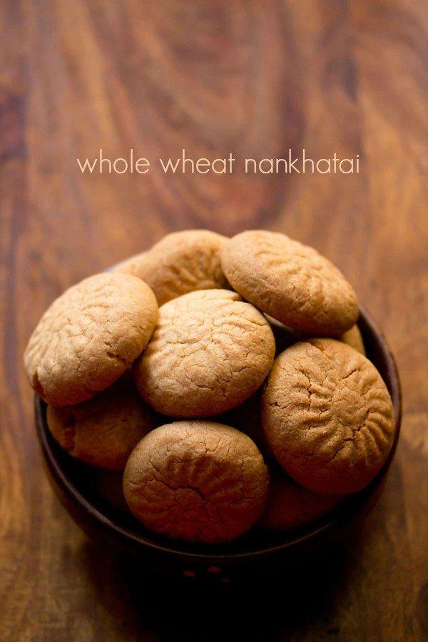recette de nankhatai de blé entier