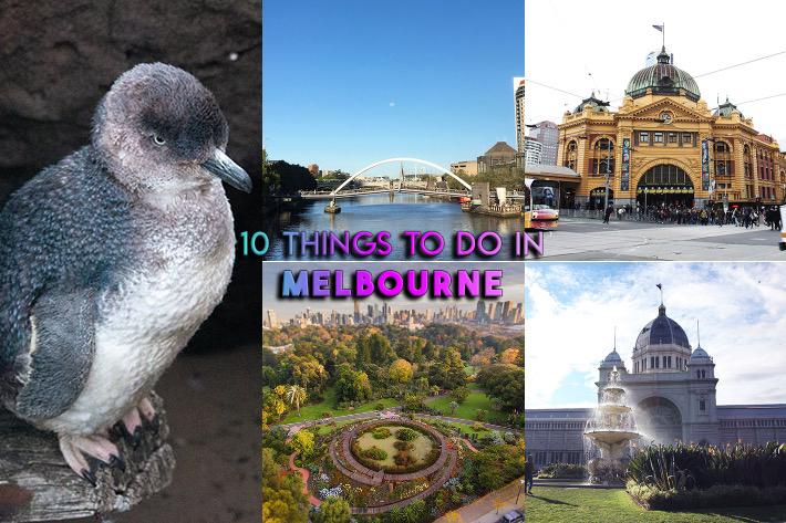 10 choses à faire à Melbourne Collage