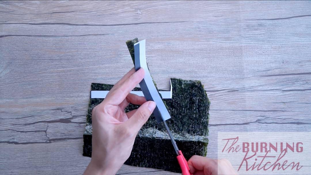 Coupez les algues selon le modèle