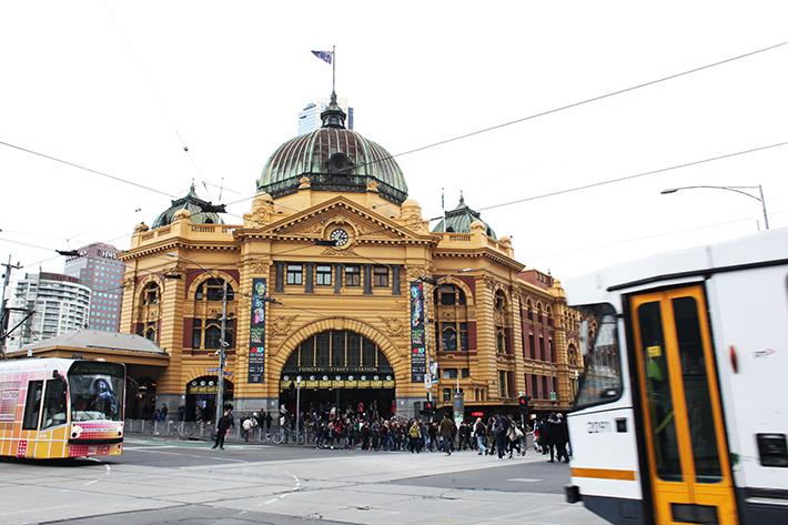 tramways publics à Melbourne