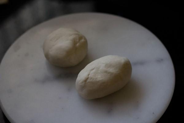 pâte divisée en deux