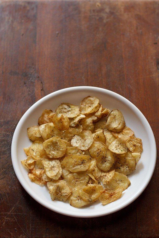 recette de chips de banane, recette de gaufrettes à la banane