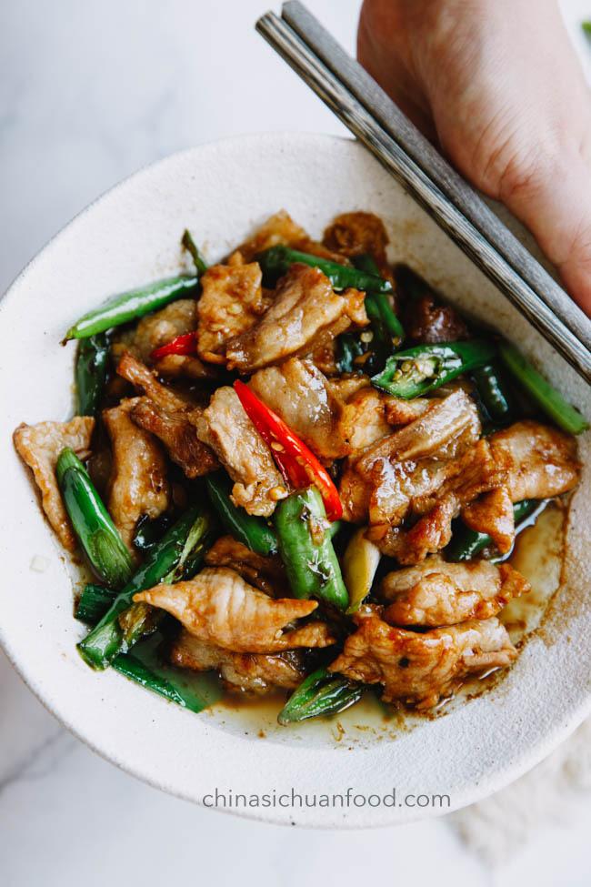 Sauté de porc du Hunan | chinasichuanfood.com