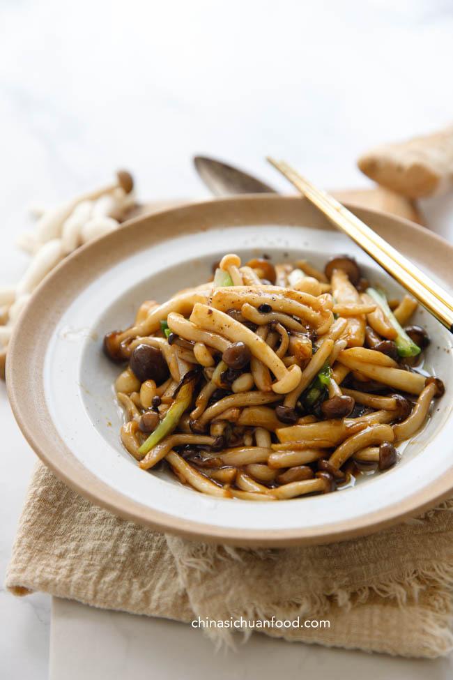 Sauté de champignons   chinasichuanfood.com