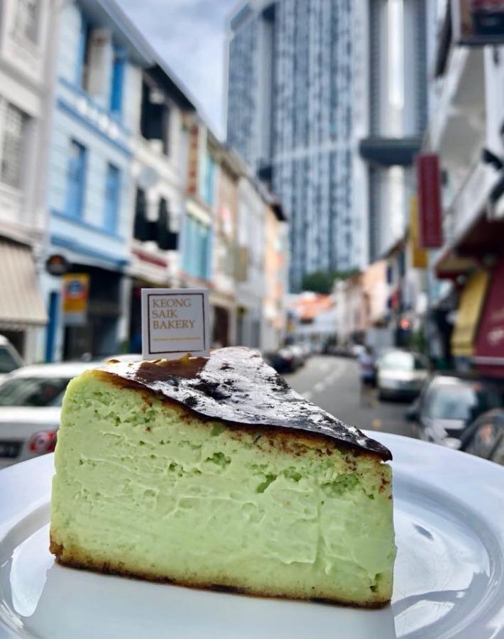 Keong Saik Bakery Gâteau au fromage brûlé Pandan