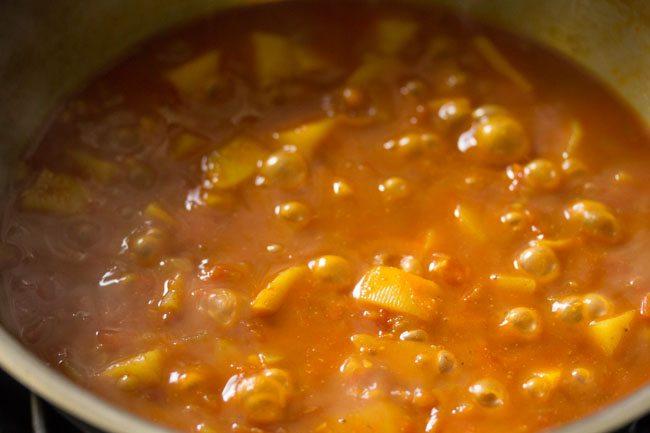 curry de pommes de terre prêt à être servi