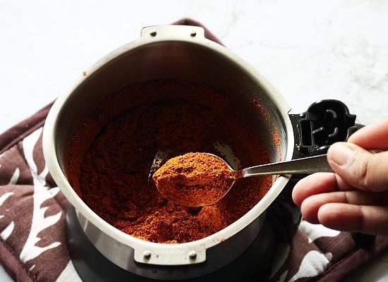 Recette de poudre de tandoori masala bien broyer