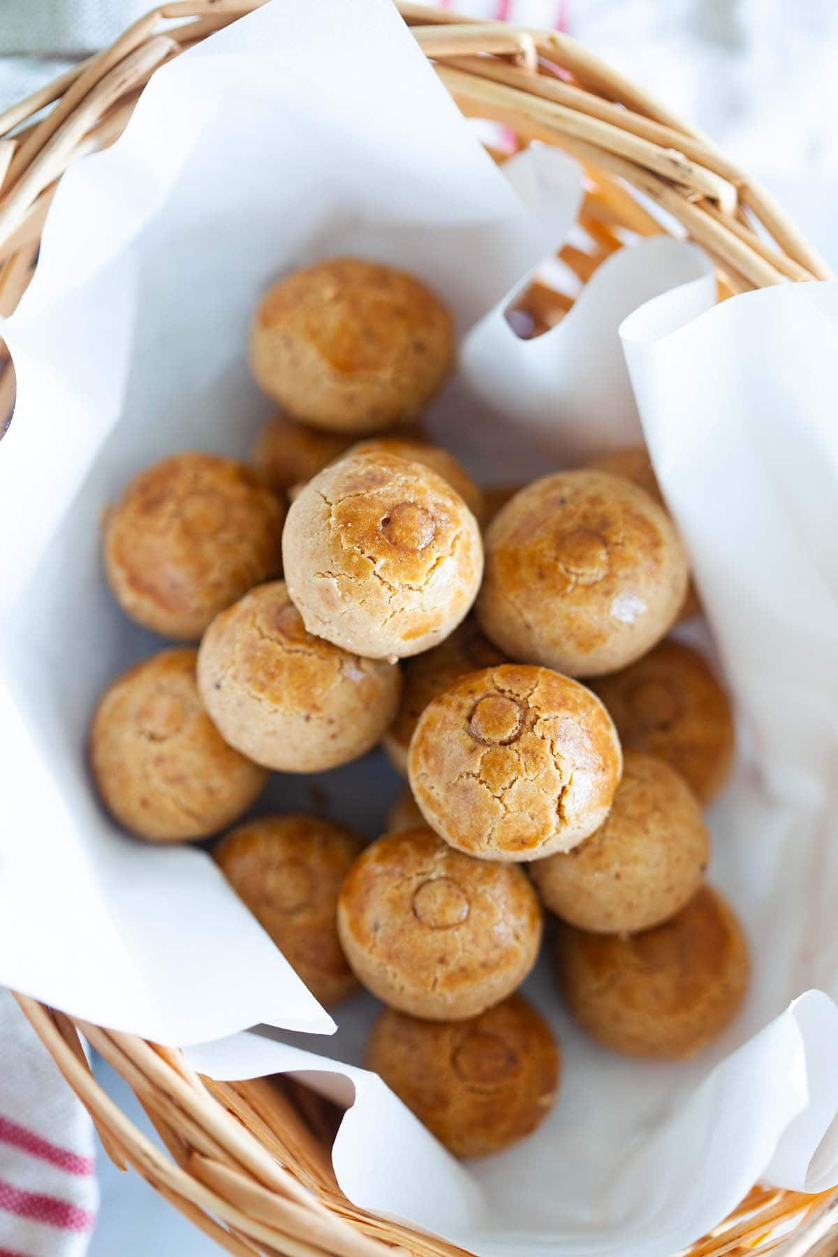 Biscuits aux arachides.