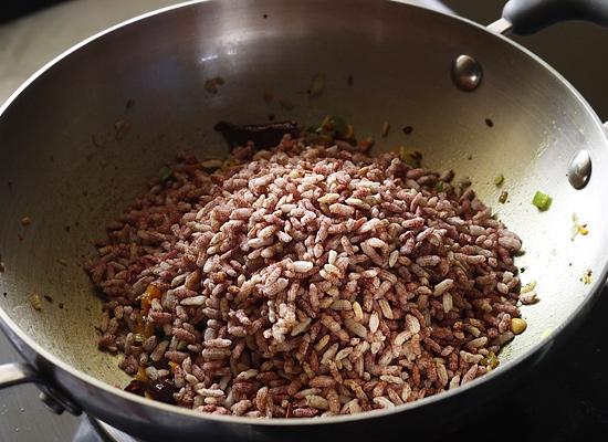 recette de légumes pori upma ajouter pori