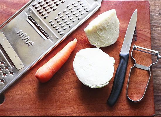 ingrédients recette de salade de chou