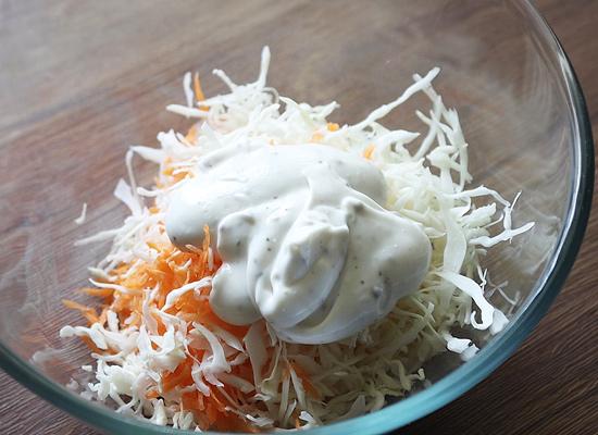 ajouter la vinaigrette à la mayonnaise