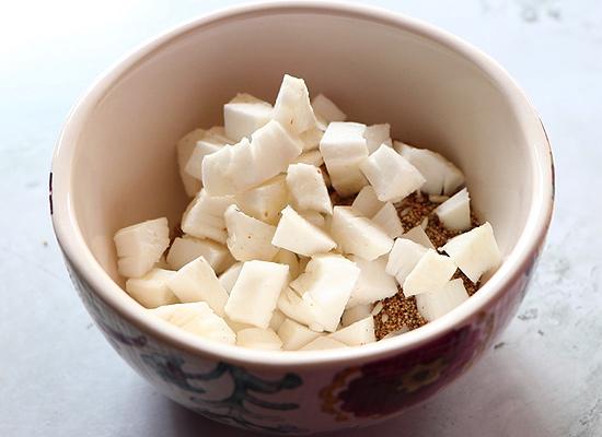 recette de gasagase payasam ajouter avec de la noix de coco