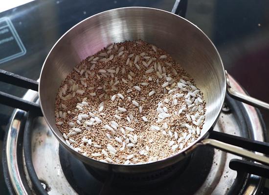 recette de gasagase payasam riz cru rôti, graines de pavot