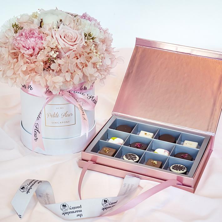 Boîte florale de garde-manger de marmelade