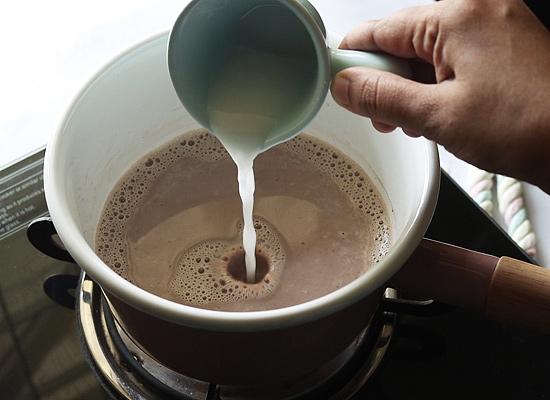 ajouter la bouillie de maïzena