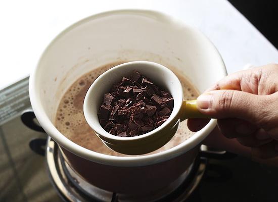 ajouter du chocolat noir