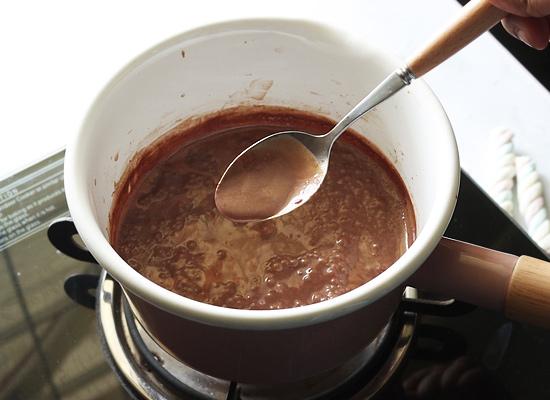 chocolat chaud prêt