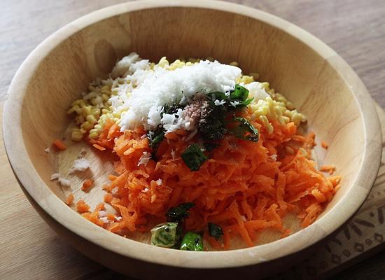 recette kosambari carotte ajouter tout