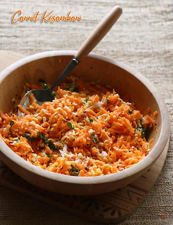 Recette de kosambari aux carottes