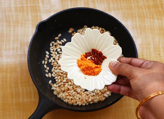 recette de graines de melon rôties ajouter du sel