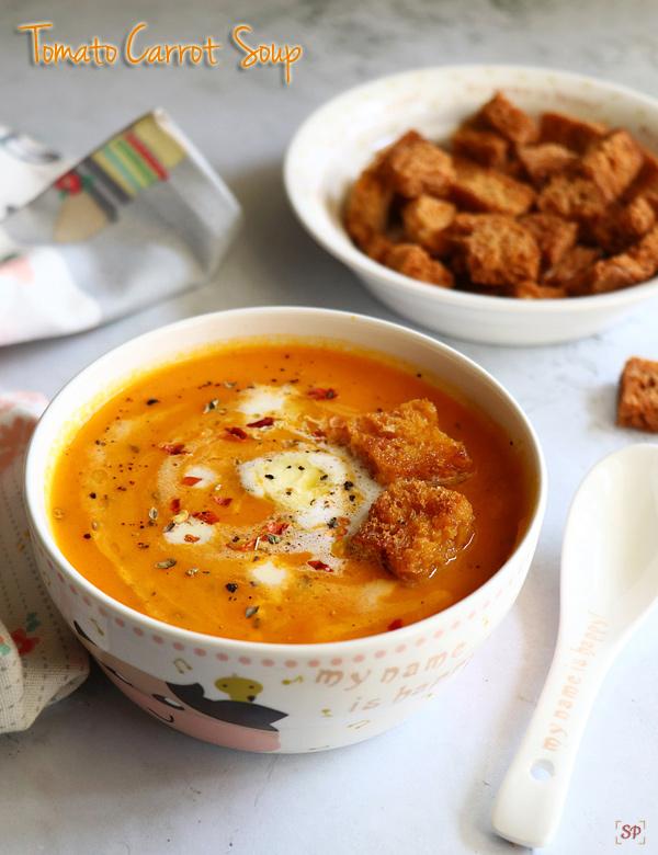 recette de soupe aux carottes et aux tomates