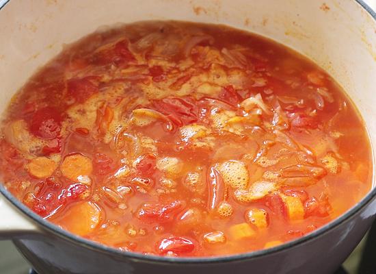 recette de soupe aux carottes et aux tomates ajouter de l'eau