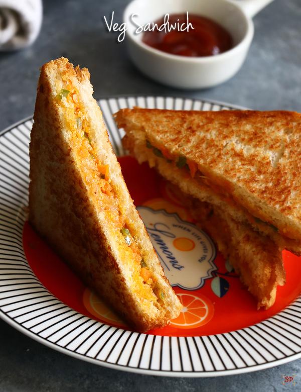 Recette de sandwich aux légumes