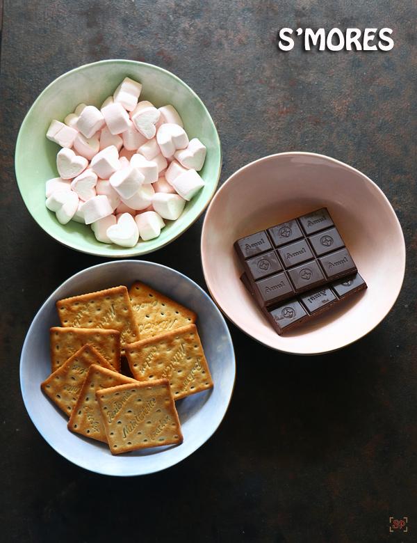 Ingrédients de la recette Smores smores