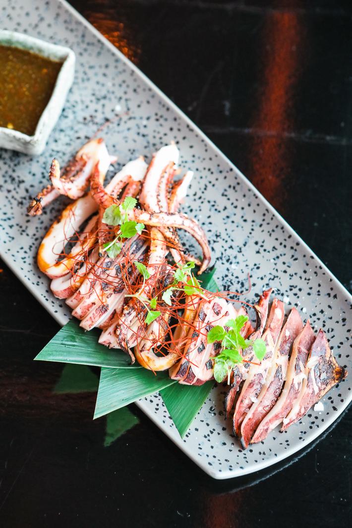 Chimichurri de calamars grillés Kinki