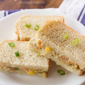 sandwich à la salade de chou servi dans une assiette blanche