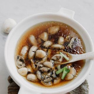 Soupe chinoise aux champignons de Paris chinasichuanfood.com