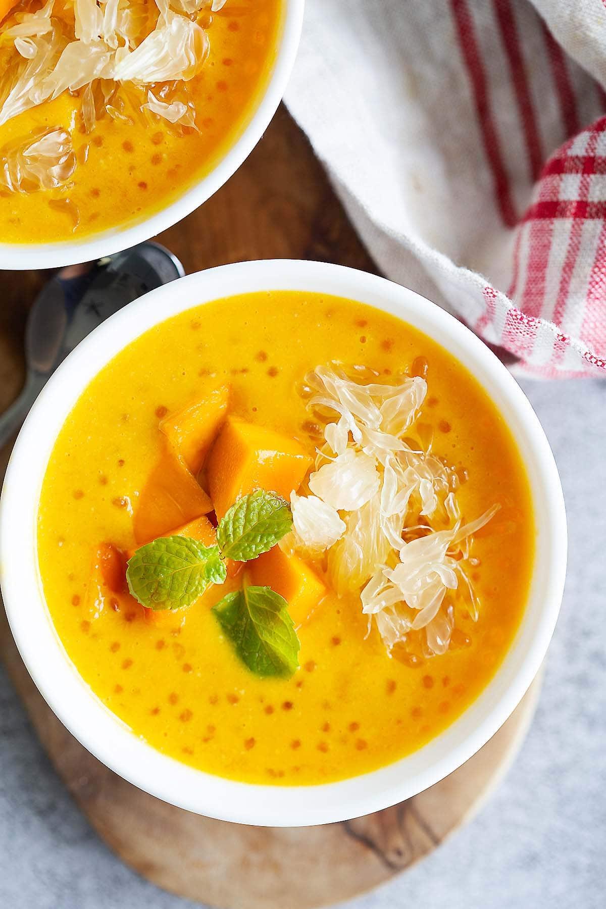 La mangue pomelo sagou est l'une des meilleures recettes de dessert à la mangue.