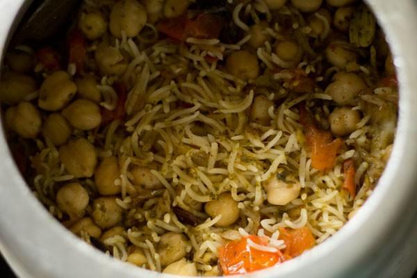 riz aux pois chiches cuit sous pression