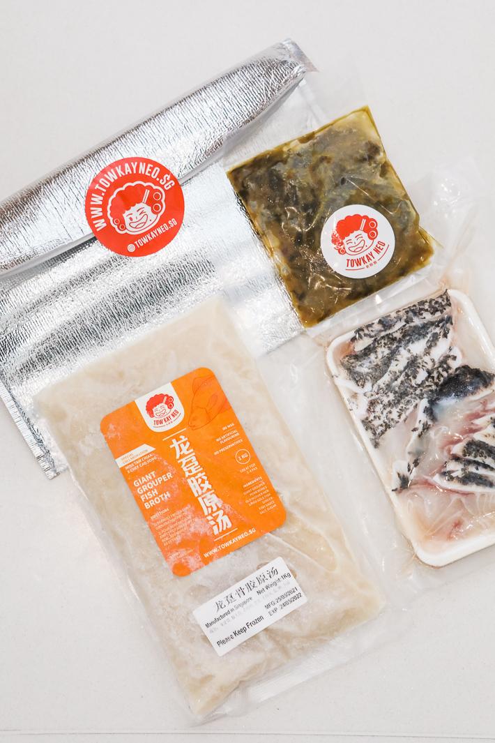 Ensemble de poissons pochés Tow Kay Neo Sichuan