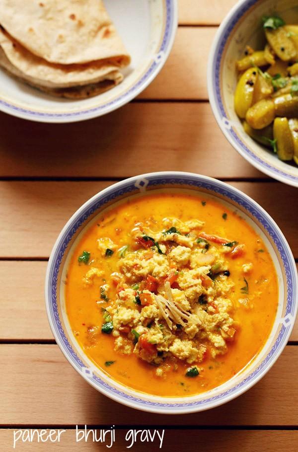 recette de sauce paneer bhurji
