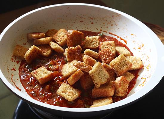 recette de pain au piment ajouter des morceaux de pain