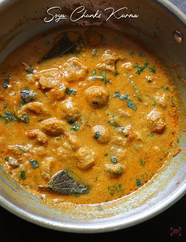 Recette de kurma aux morceaux de soja