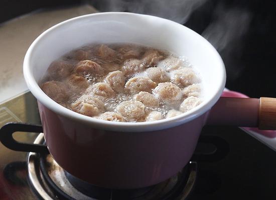 morceaux de soja cuits