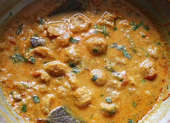 morceaux de soja prêts pour le kurma