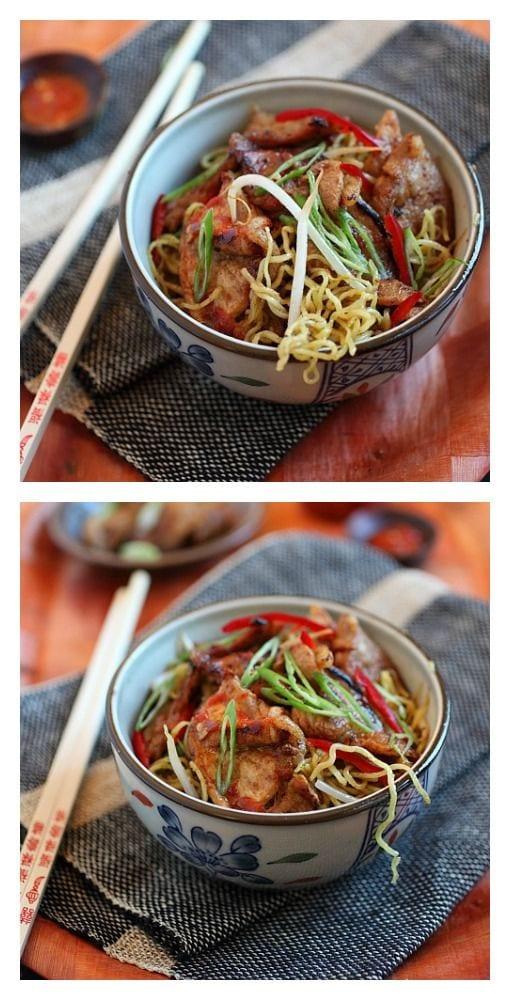 Nouilles au porc aigre-douces Super Delish – saveur aigre-douce, avec du porc et des nouilles. Votre ventre sera ravi de cette recette éprouvée.  |  rasamalaysia.com