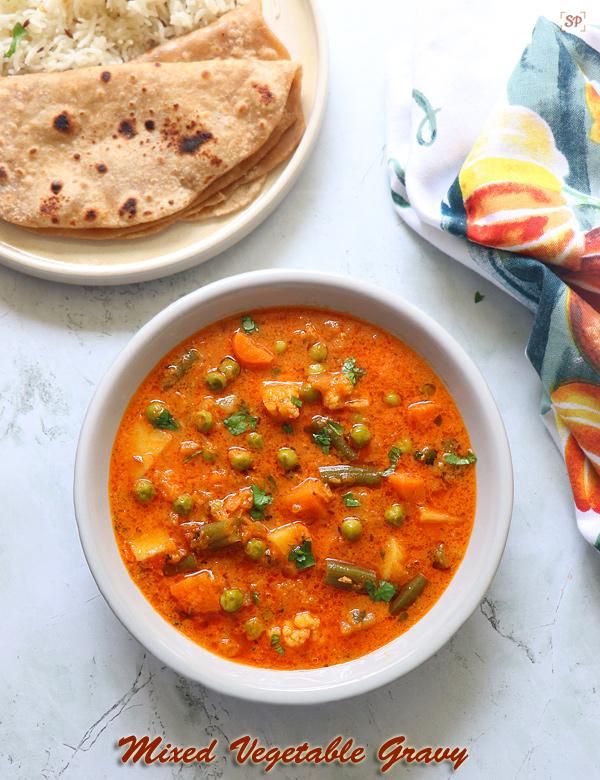 Recette de curry de légumes mélangés