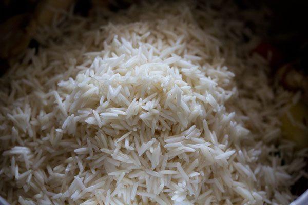 riz trempé ajouté