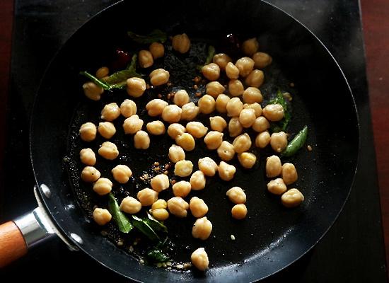 recette de chana sundal ajouter du chana cuit