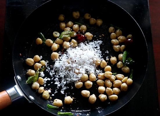 recette de chana sundal ajouter de la noix de coco