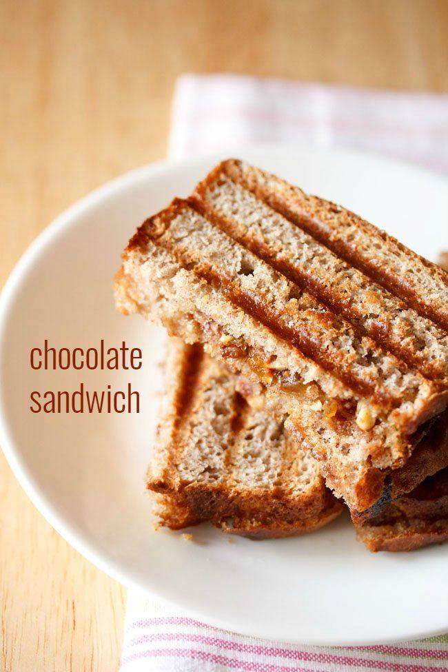 sandwich au chocolat servi dans une assiette